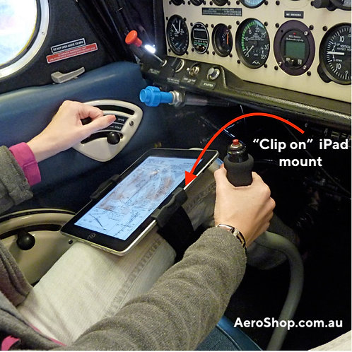 "iPad ""Clip-it"" kneeboard type holder"