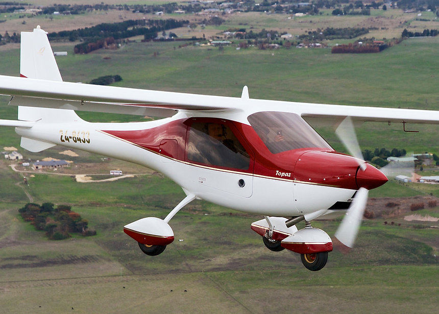 Topaz sport aircraft flying in Australia