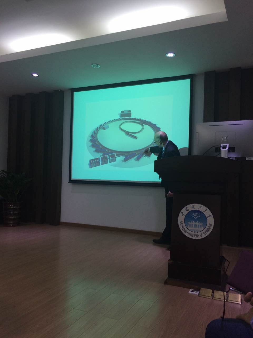 Colin giving a lecture at South China University of Technology