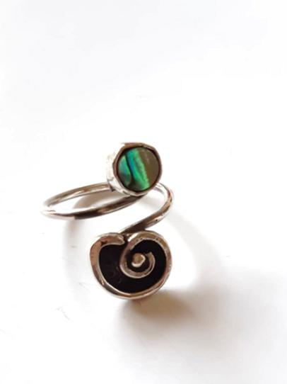Mini anillo espiral de abulón