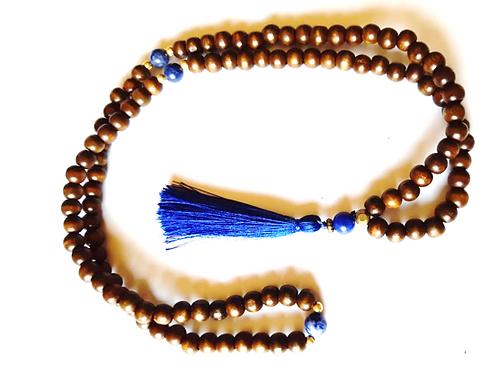 Japamala básico con lapislázuli