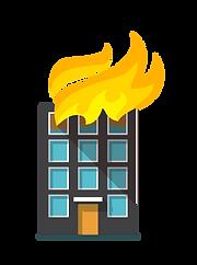 Minimiza os prejuízos causados a edificação devido ao incêndio.