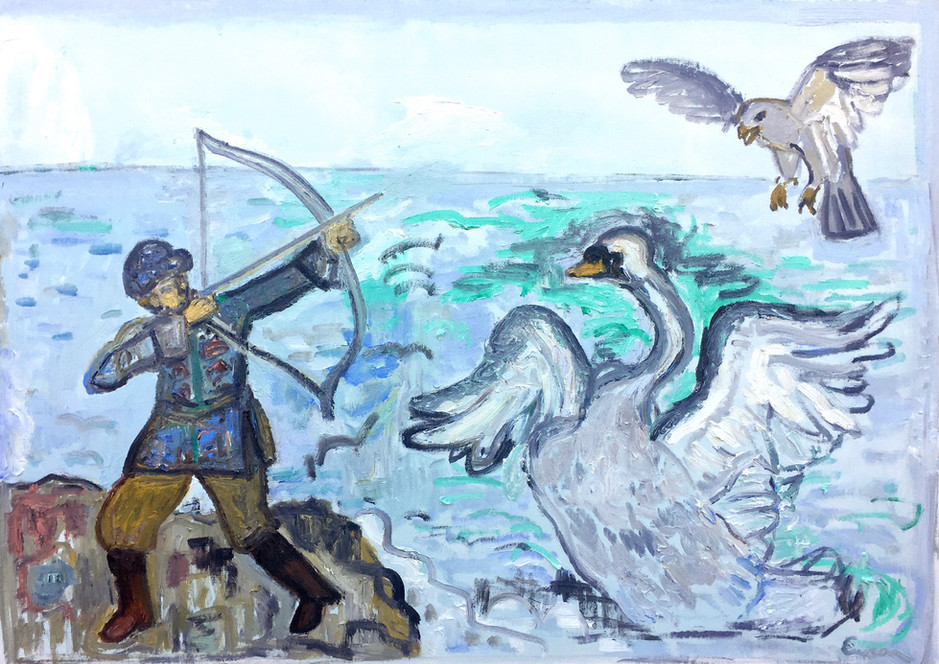 The Prince saves the Swan Princess (Tsar Saltan)