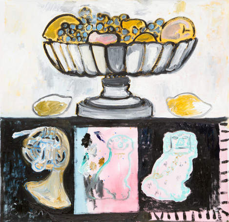 Still Life With Small French Horn and Lemons