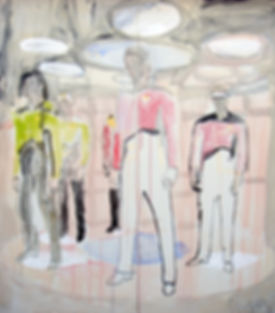 "Star Trek Painting by Anne-Louise Ewen | 80"" tall by 72"" wide"