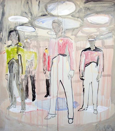 "Star Trek Painting by Anne-Louise Ewen | 80"" tall by 72"" wide"