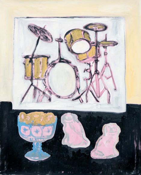 Still Life With Picture of Drum Kit