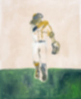Baseball Painting by Anne-Louise Ewen