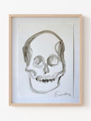 Skull (Black and White Big Head)