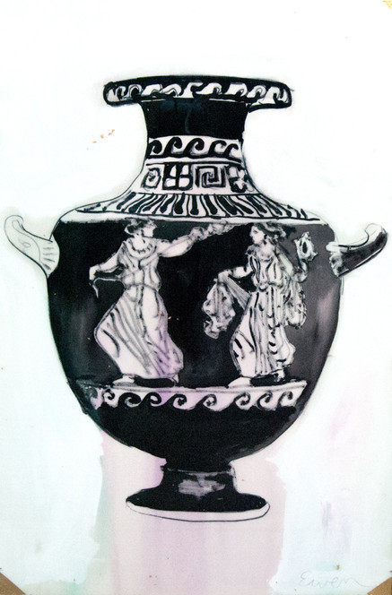 GRECIAN URN WITH LADIES