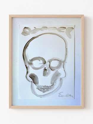 Skull (Black and White with Laurels)