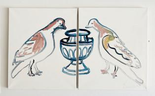 Birds at Fountain