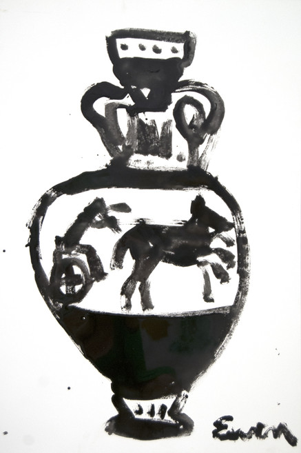 GRECIAN URN RESIN PAINTING No. 1