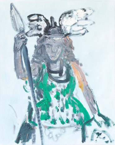 Valkyrie with Spear and Winged Helmet
