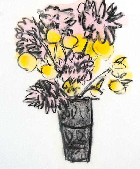 Flower Painting by Anne-Louise Ewen