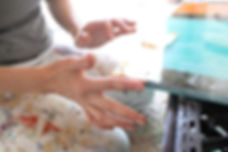 Anne-Louise Ewen's hands (Photo: Jenn Pablo)