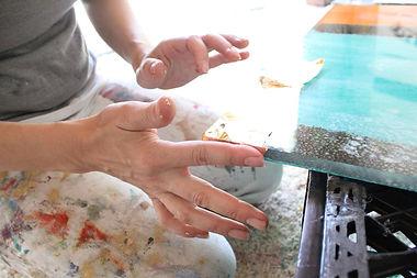 Anne-Louise Ewen's hands (Photo: Jenn Pablo)