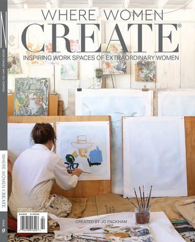 Ewen on cover of Where Women Create