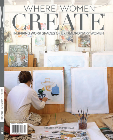 Ewen on cover of Where Women Create