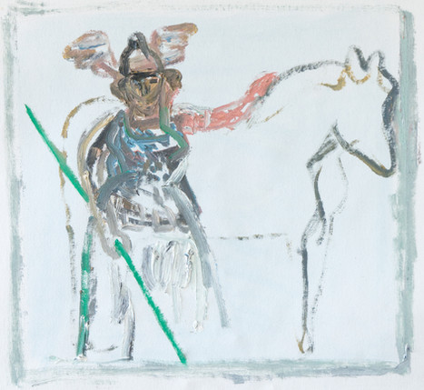 Valkyrie with Horse