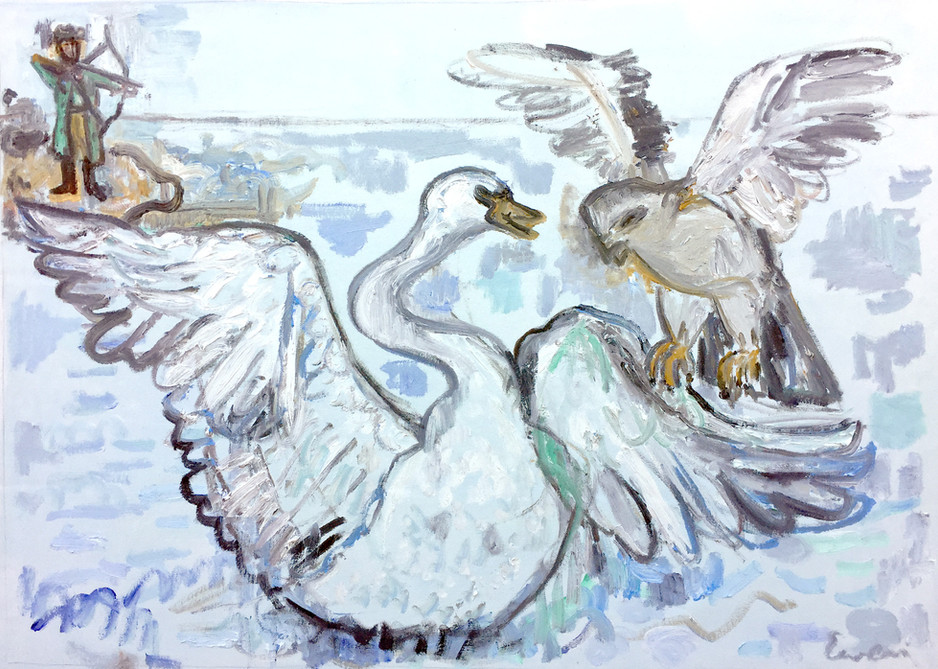 Bird of Prey attacks the Swan Princess (Tsar Saltan)