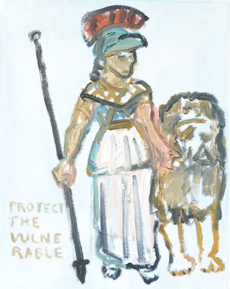 Warrior Goddess with Lion 1 (Protect the Vulnerable)