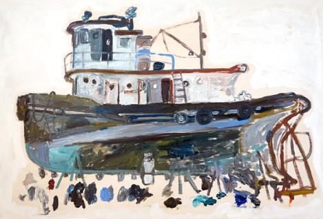 Tugboat Under Repair