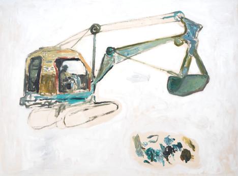 Excavator Painting