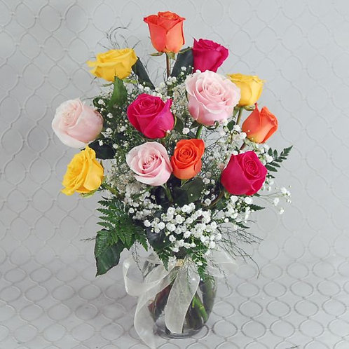 1 Dz. Mixed Colored Roses