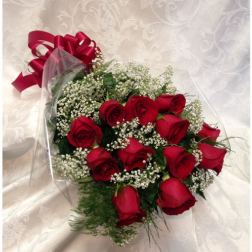 1dz Wrapped Roses