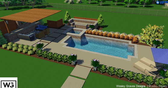 3D Landscape and Pool Deisgn