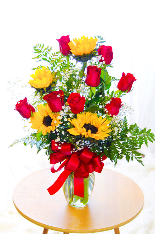 Roses & Sunflowers