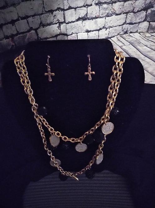 Goldtone Necklace &Earrings