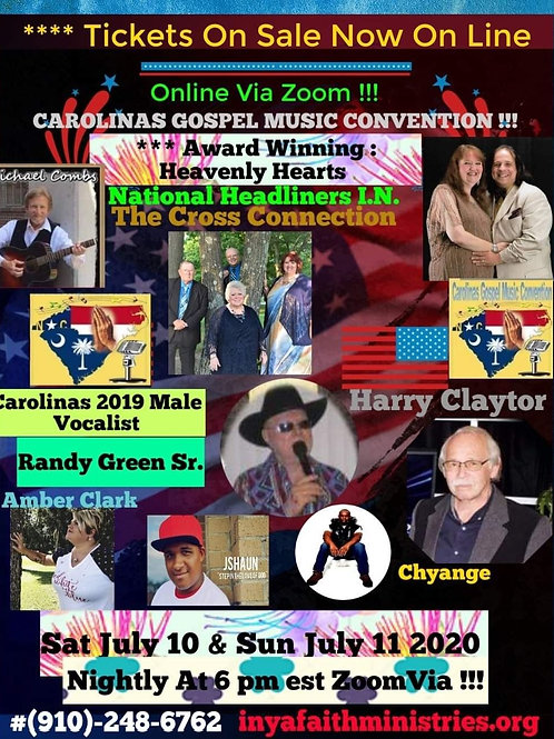 Tickets for Online Convention