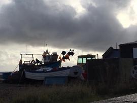 Fishing Boat in silhouette