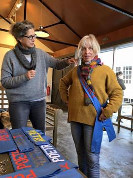 2016 Festival Curator Daphne Astor with Joan Edlis