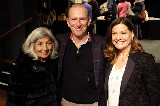 Mimi Khalvati, William Sieghart and Sally Carruthers