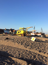 Aldeburgh beach Fishing boats and recovery