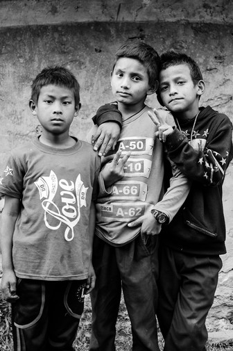 Footbag teammates - they were waiting in front of the house at 6.00 a.m. to kick the ball before going to school.