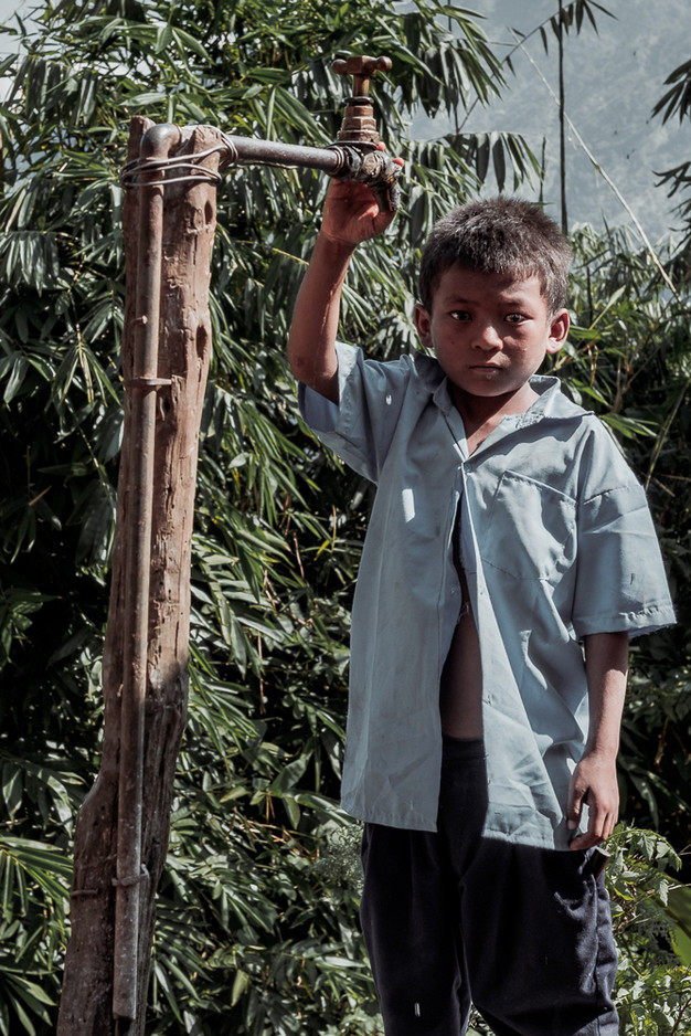 the kids now have direct access to drinking water next to their houses