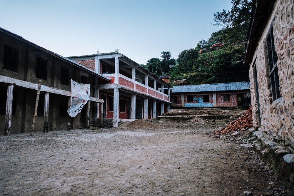 the school early in the morning