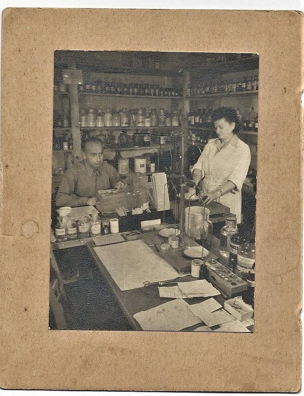 70. Maryla Erlich in a pharmacy in a DP