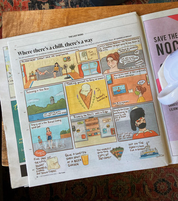 Comic about ways to cool down in Halifax for The Coast's annual summer issue