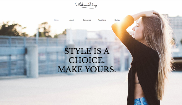 Mode en accessoires website templates – Blog over mode en stijl