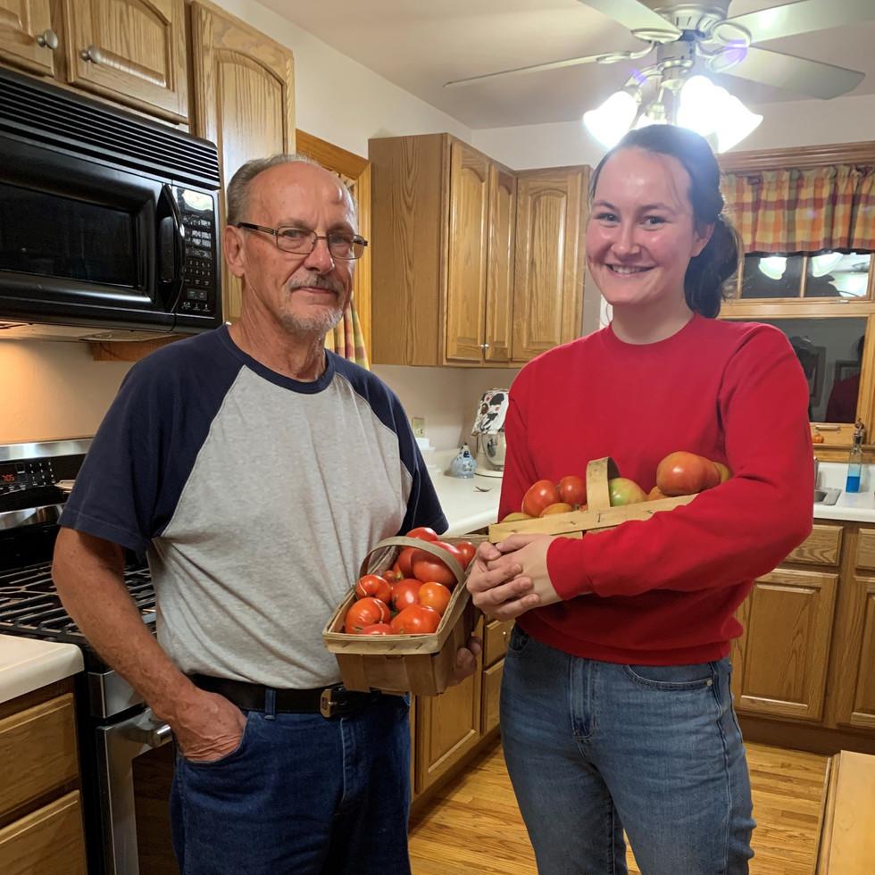 YOU get a tomato . . . YOU get a tomato. . .and YOU get a tomato!