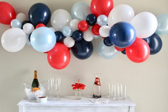 Patriotic Balloon Garland