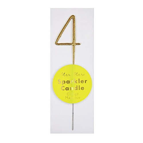 Gold Sparkler Mini Candle - 4