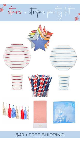 Stars + Stripes Party Kit