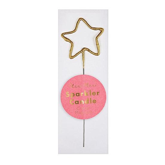 Star Sparkler Mini Candle