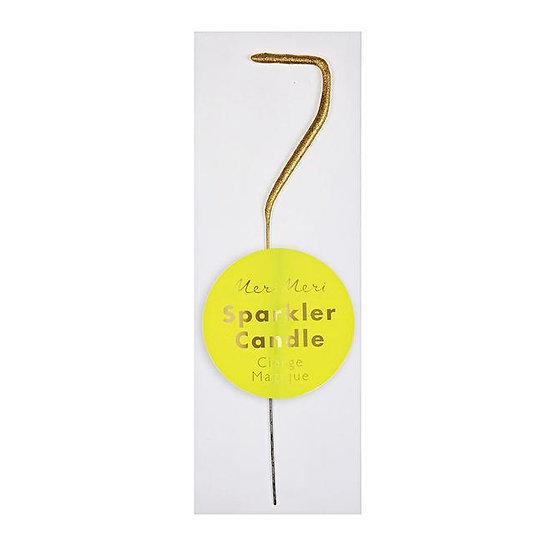 Gold Sparkler Mini Candle - 7
